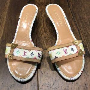 "Louis Vuitton 1.5"" Open Toe Heel/Sandal"